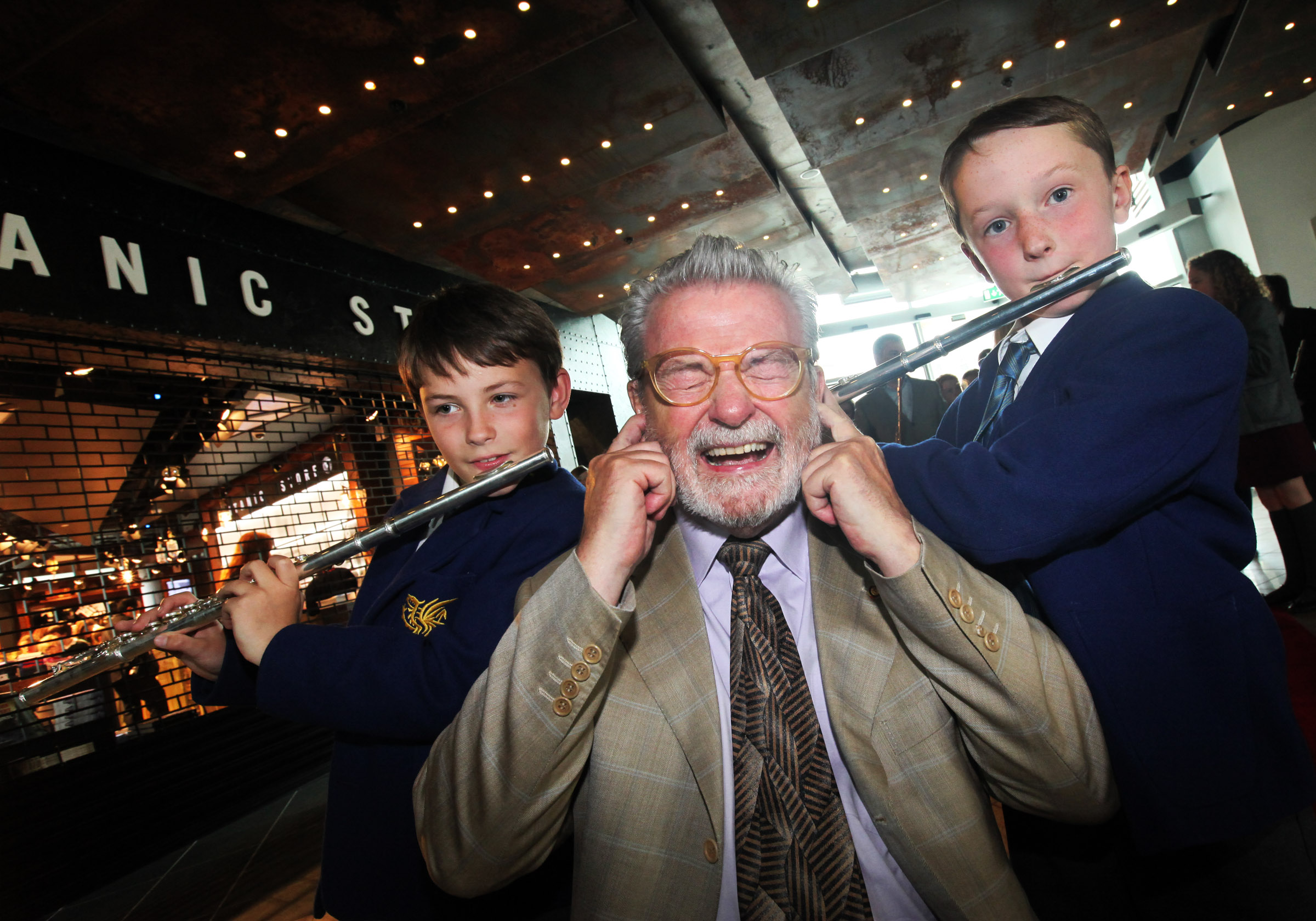 Sir James visits Titanic Centre ahead of Ulster Orchestra Concert