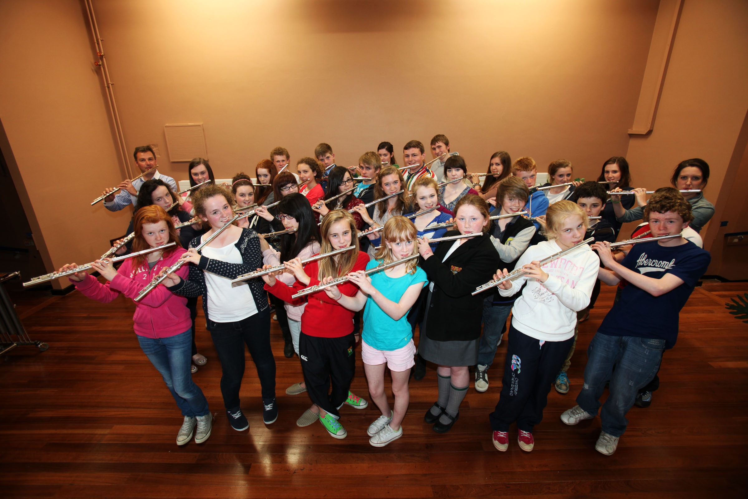 Young Flautists look forward to concert with Sir James