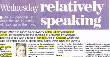 Karen and Denise bring back 'Random Acts of Kindness'
