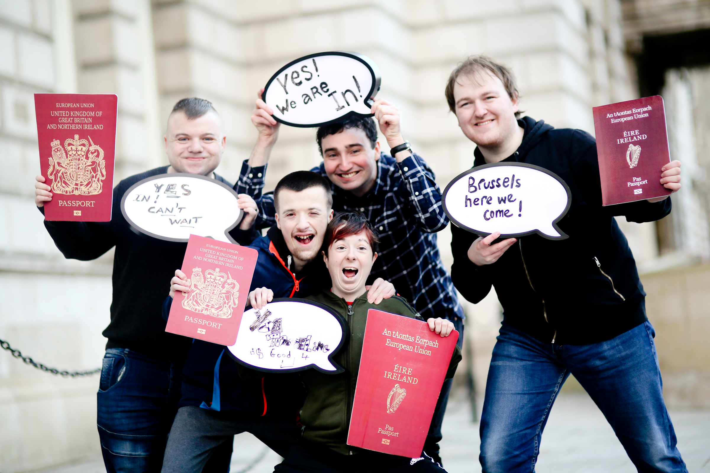 Young disabled ambassadors head to Brussels to promote Northern Ireland